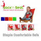 Sack'n Seat portable child seat - red