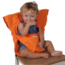 Sackn' Seat tragbarer Kindersitz - orange