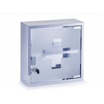 First aid cabinet - silver