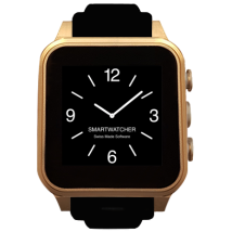 Smartwatcher Emergency Watch Chrono Gold Black