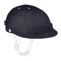 Yakkay casque couverture Milano Dark Blue Denim