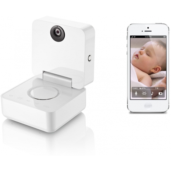 withings baby monitor f r iphone ipad ipod touch stylische sicherheit. Black Bedroom Furniture Sets. Home Design Ideas